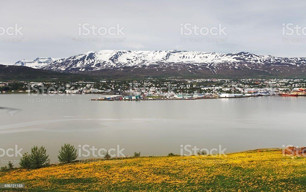 Akureyri city - Iceland stock photo