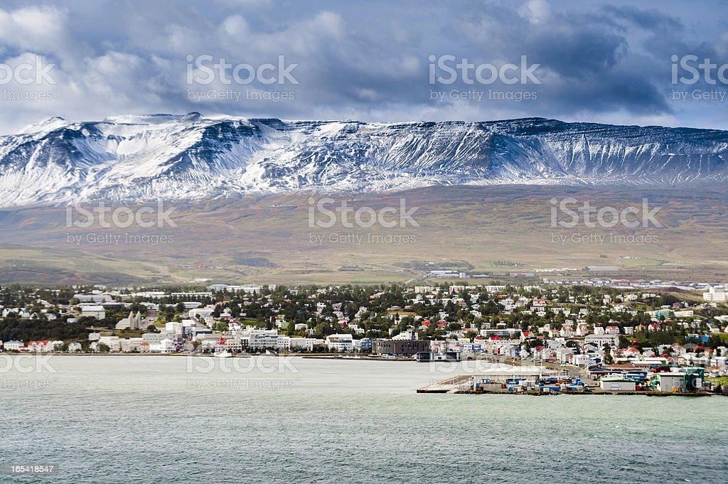 akureyri, iceland stock photo