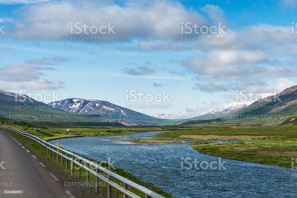 Akureyri - Iceland stock photo