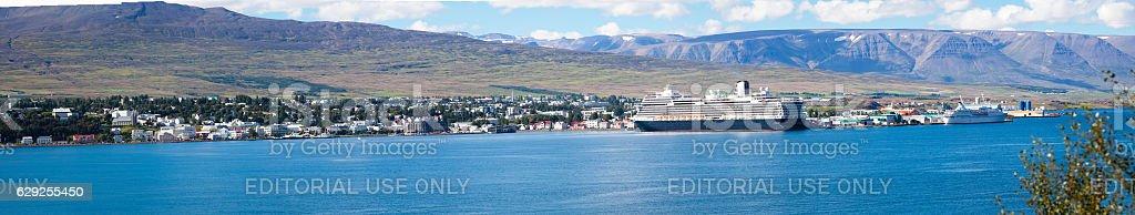 Akureyri, Iceland. stock photo