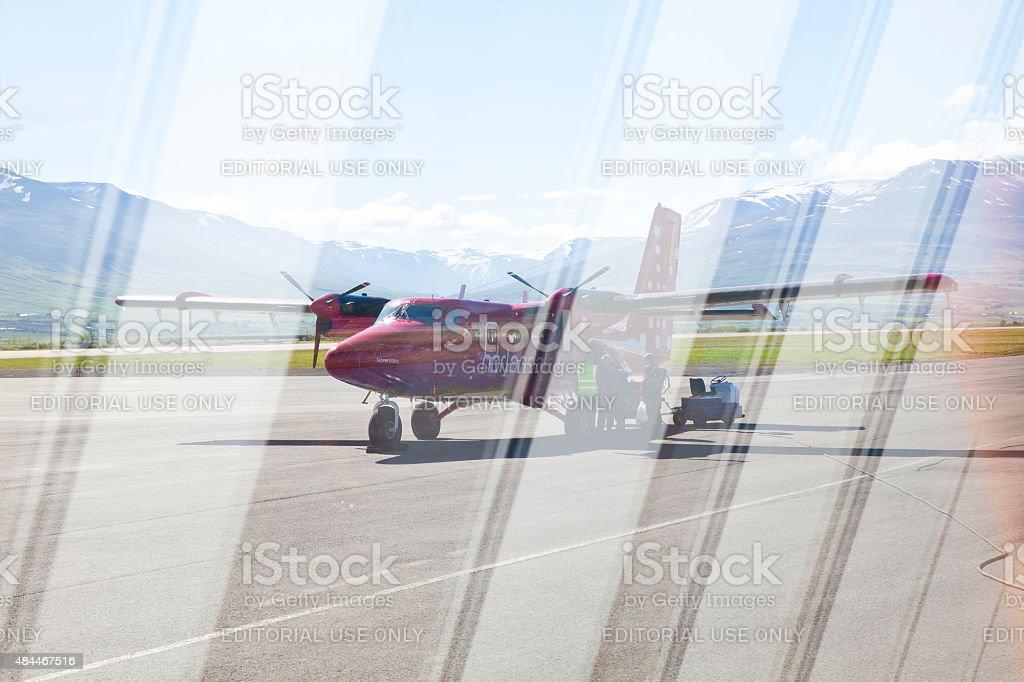 Akureyri International Airport, Iceland stock photo