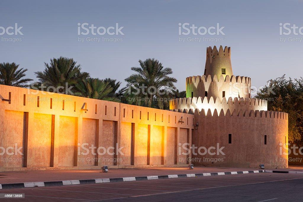Al Ain palace at night, UAE stock photo