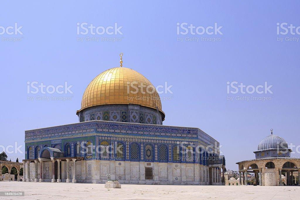 Al - Aksa, Dome of the Rock, Jerusalem royalty-free stock photo