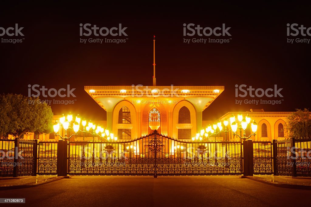 Al Alam Palace of His Majesty Sultan Qaboos Oman stock photo