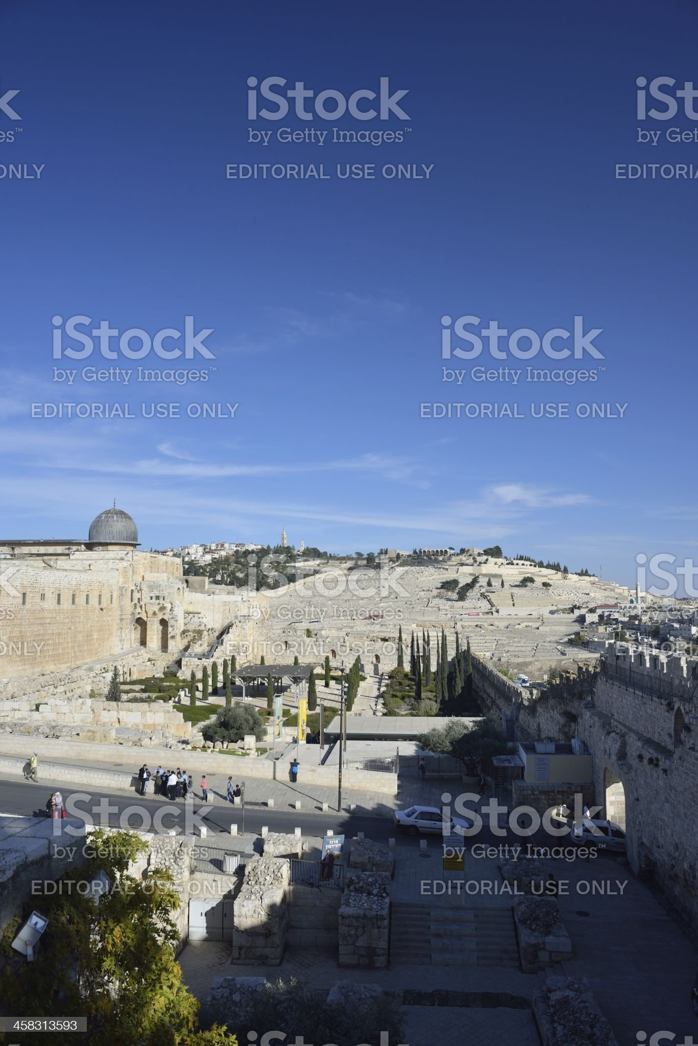 Al Aqsa and Dung gate in Old City Jerusalem royalty-free stock photo