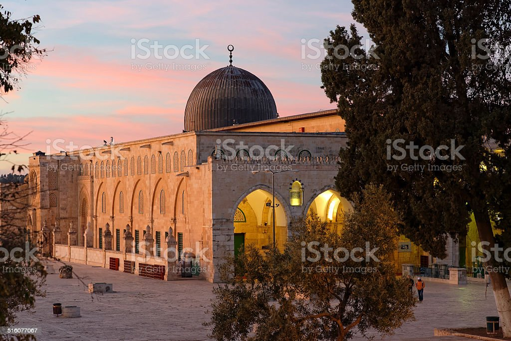 Al Aqsa at Dawn (Jerusalem) stock photo