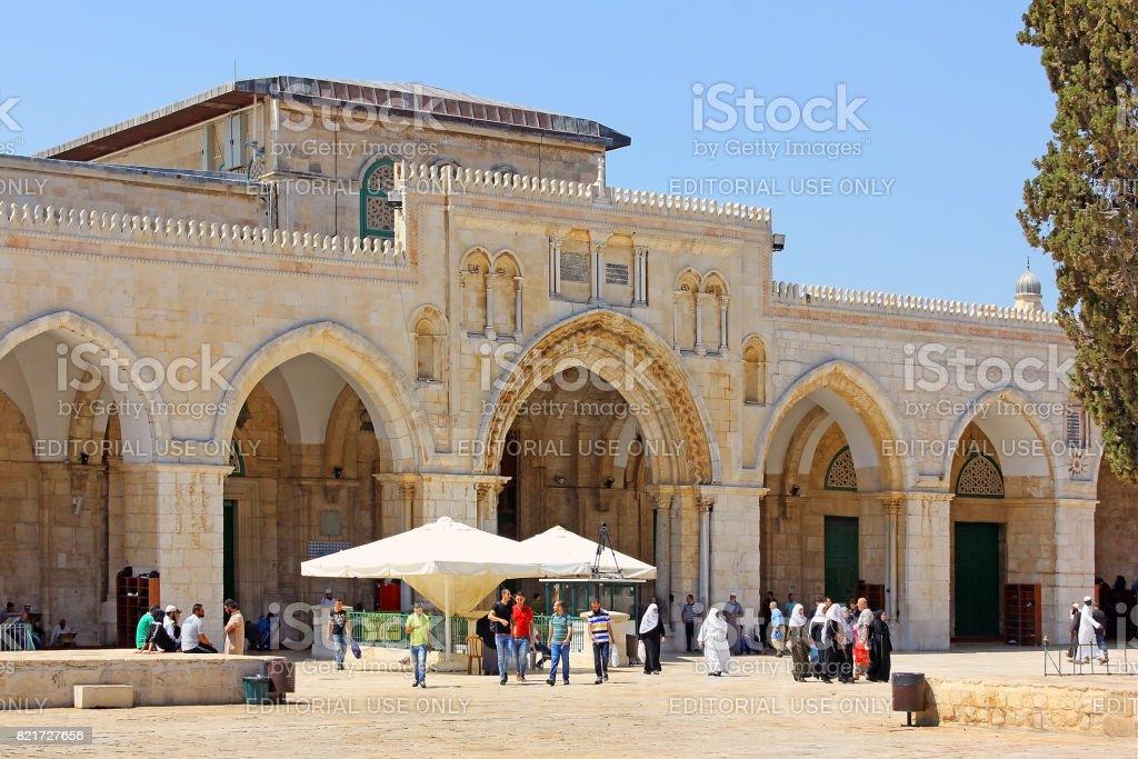 Al Aqsa Mosque at the Temple Mount, Jerusalem, Israel stock photo