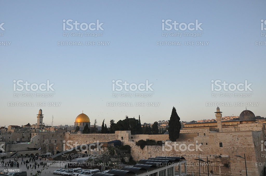 Al Aqsa Mosque & Dome of the Rock stock photo