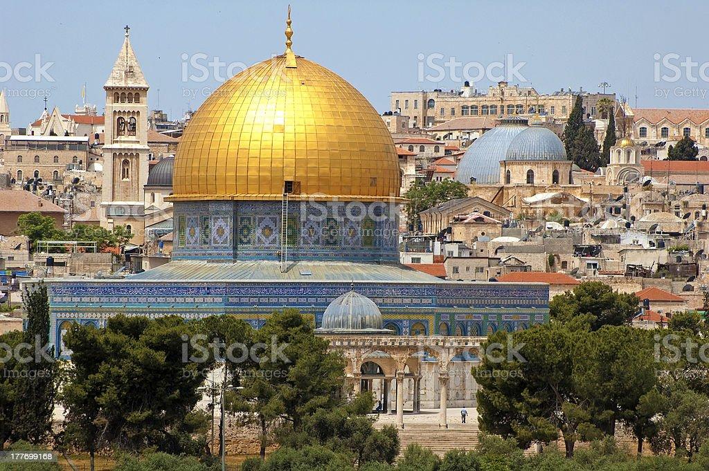 Al Aqsa mosque in Jerusalem, Israel royalty-free stock photo