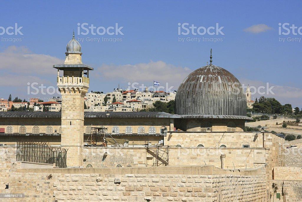 Al Aqsa Mosque in Jerusalem, Israel. stock photo