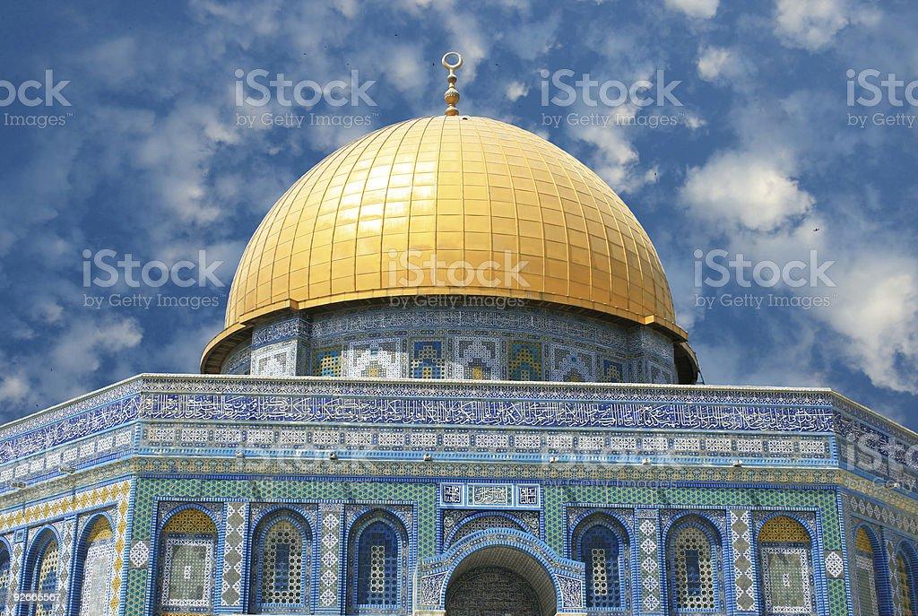Al Aqsa Mosque in Jerusalem stock photo