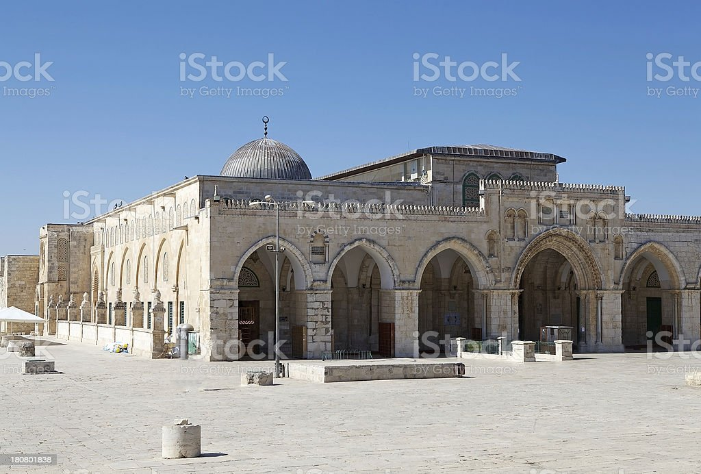 Al Aqsa Mosque royalty-free stock photo