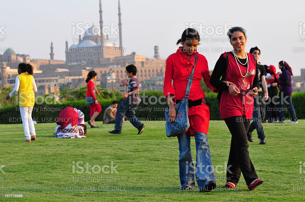 Al Azhar Park stock photo