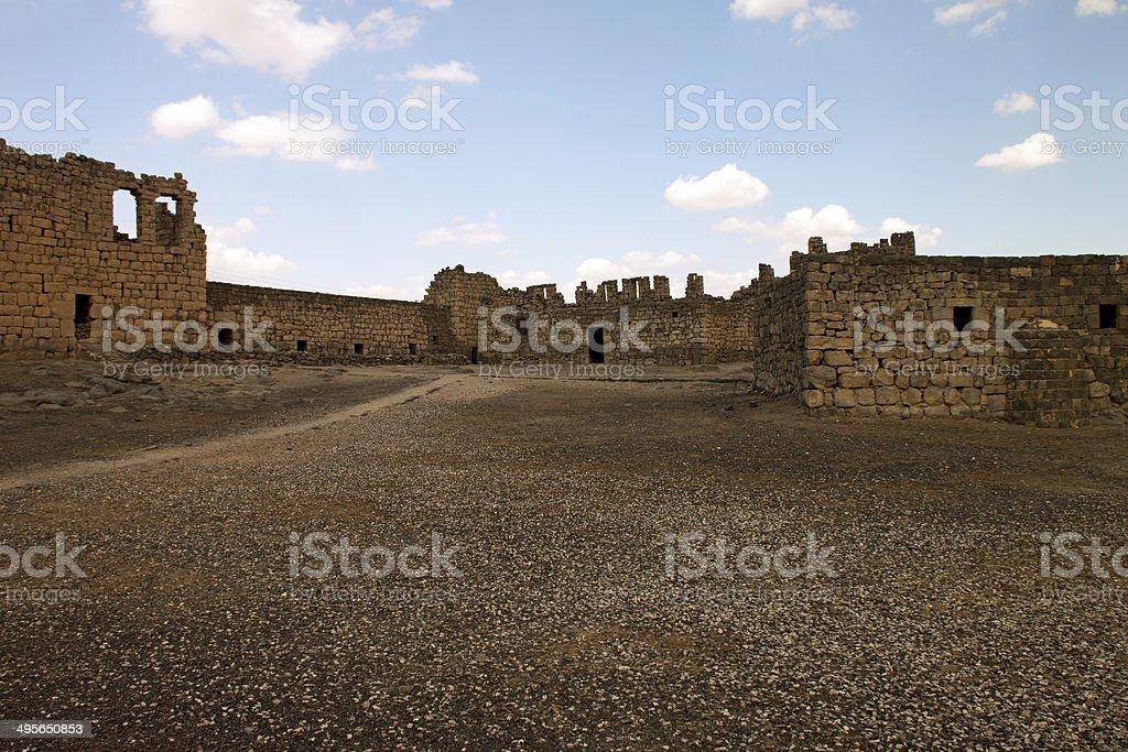 Al Azraq Castle ruins royalty-free stock photo