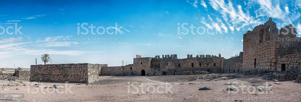 Al Azraq, desert castle, Jordan stock photo