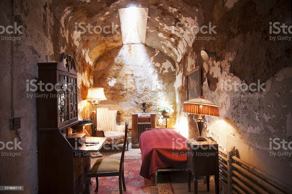 Al Capone's Cell at Eastern State Penitentiary - Philadelphia, PA stock photo