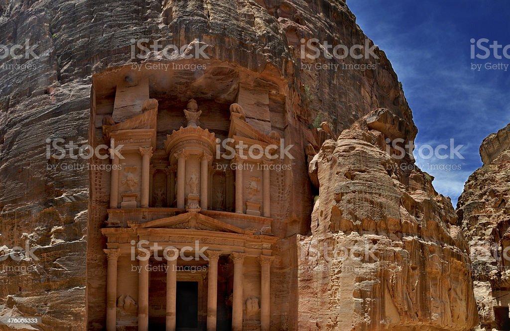 Al Deir Temple in Petra stock photo
