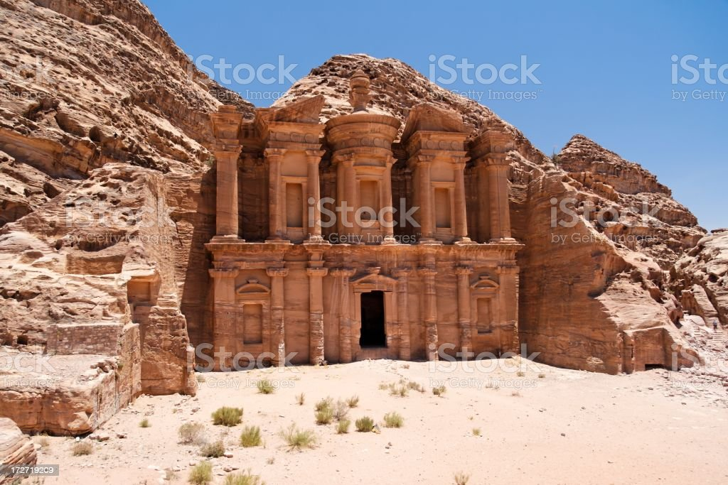 Al Deir Temple royalty-free stock photo