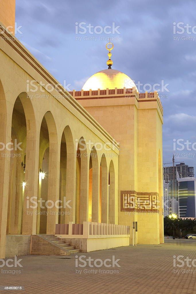 Al Fateh Grand Mosque in Manama, Bahrain stock photo