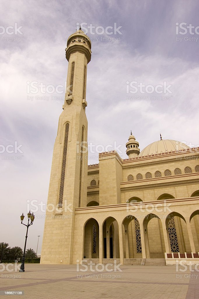 Al Fateh mosque Bahrain royalty-free stock photo