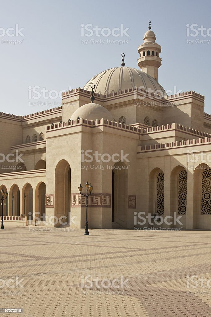 Al Fateh Mosque, Bahrain stock photo