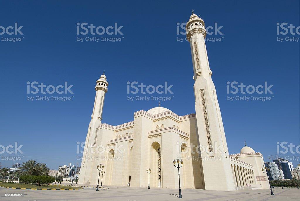 Al Fateh Mosque in Bahrain stock photo