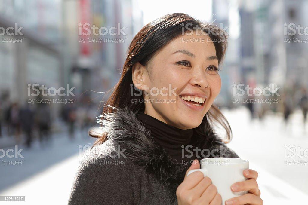 Al Fresco Coffee Portrait royalty-free stock photo