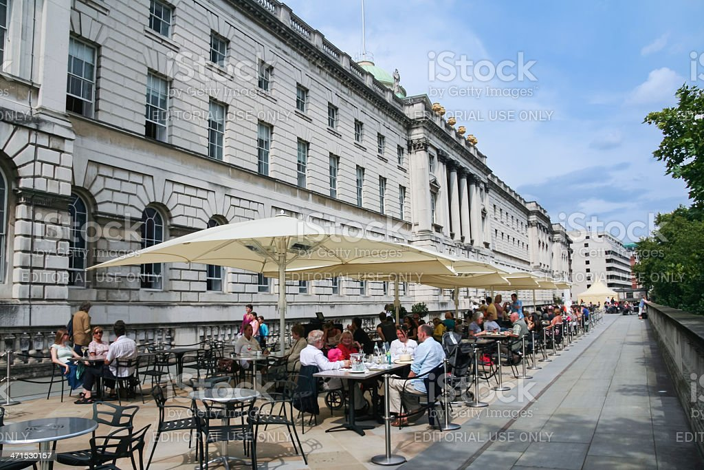 al fresco street cafe london somerset house uk stock photo