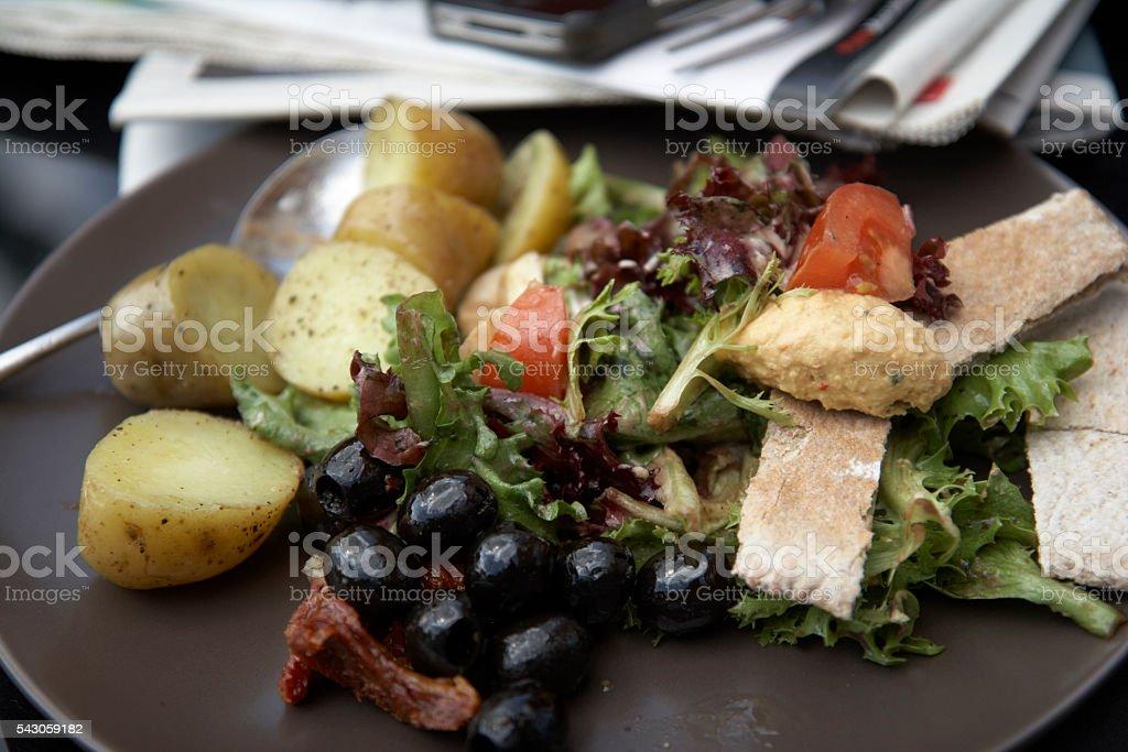 Al Fresco Summer Lunch stock photo