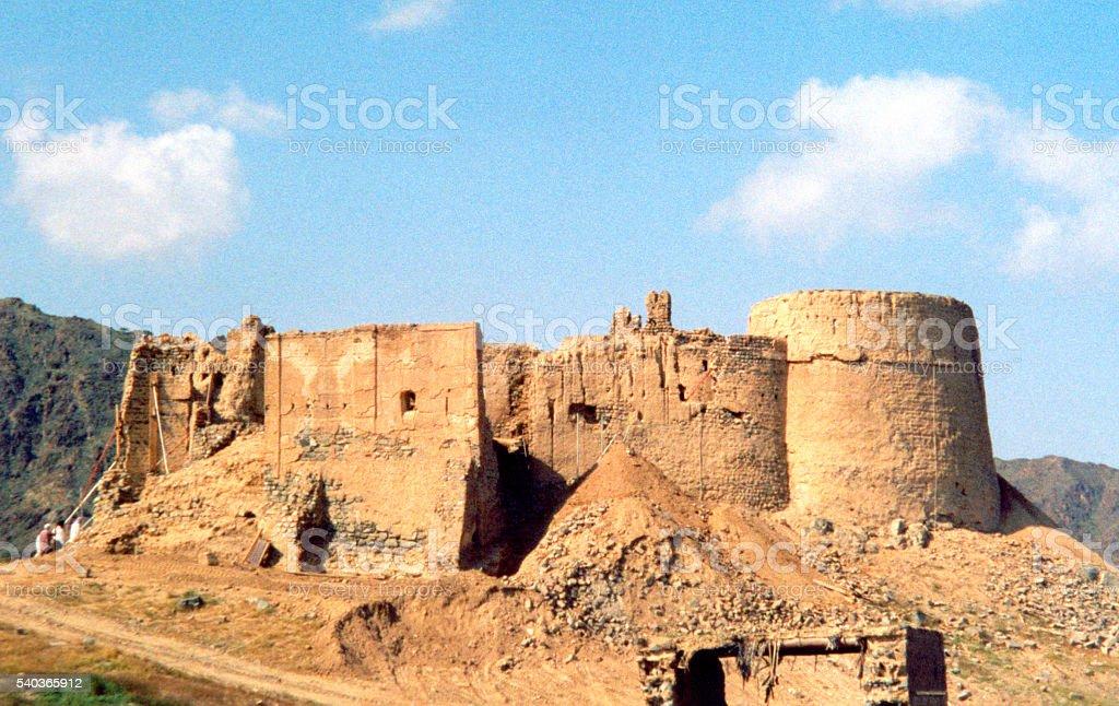 Al Fujairah, UAE: Al Heil castle stock photo