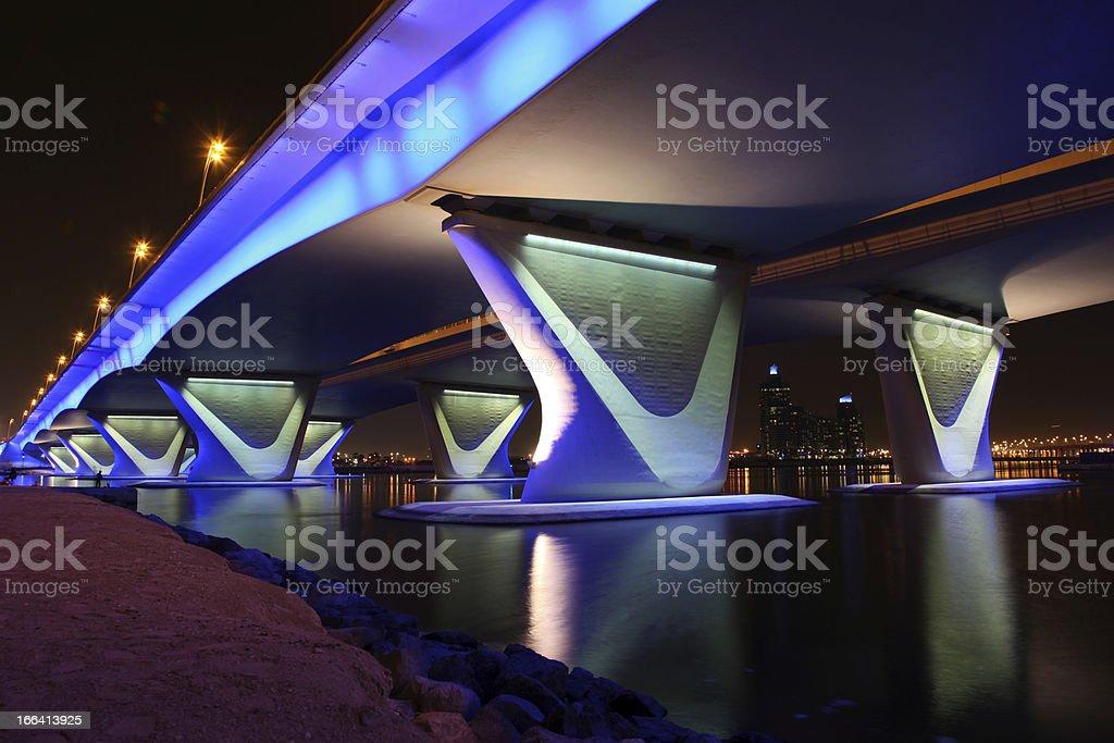 Al Garhoud Bridge in Dubai royalty-free stock photo
