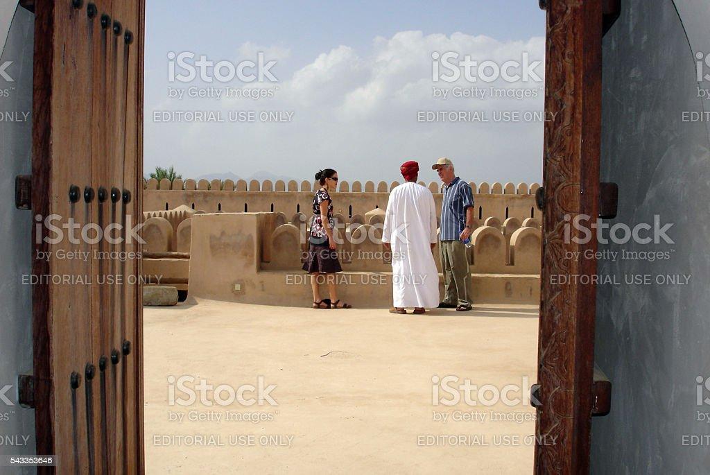 Al Hazm Fort in Oman stock photo