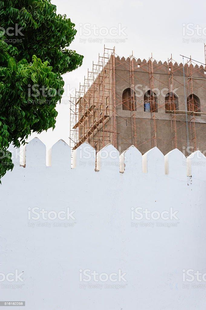 Al Hujra fort, Sohar stock photo