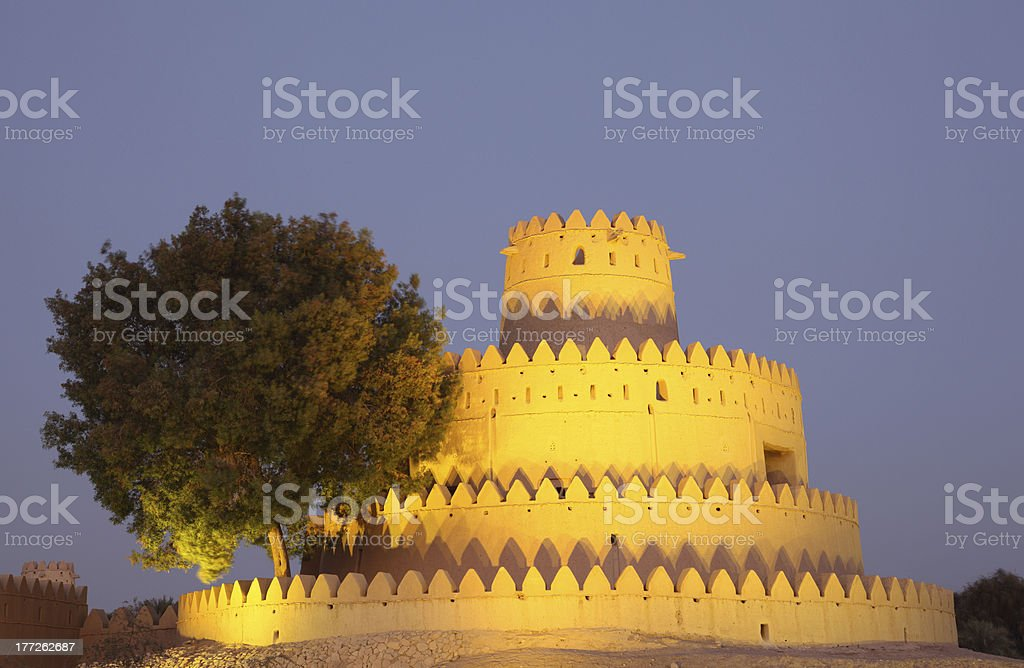 Al Jahili fort, Abu Dhabi royalty-free stock photo