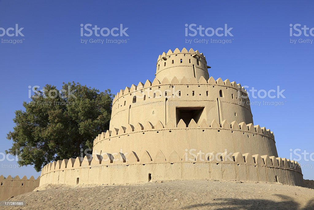 Al Jahili fort, Abu Dhabi royalty-free stock photo