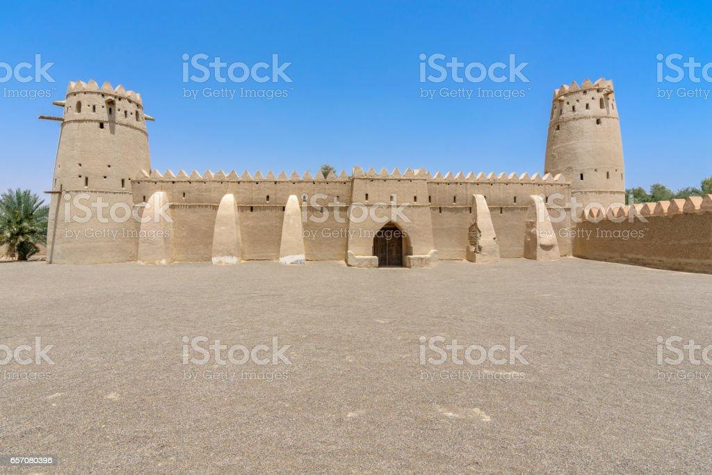 Al Jahili fort, Al Ain, Abu Dhabi, United Arab Emirates stock photo