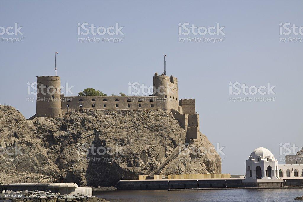 Al Jalali fort in old Muscat, Oman stock photo