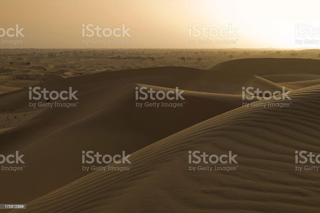 Al Khatim Desert sunset stock photo