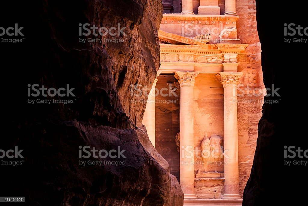 Al Khazneh in Petra stock photo