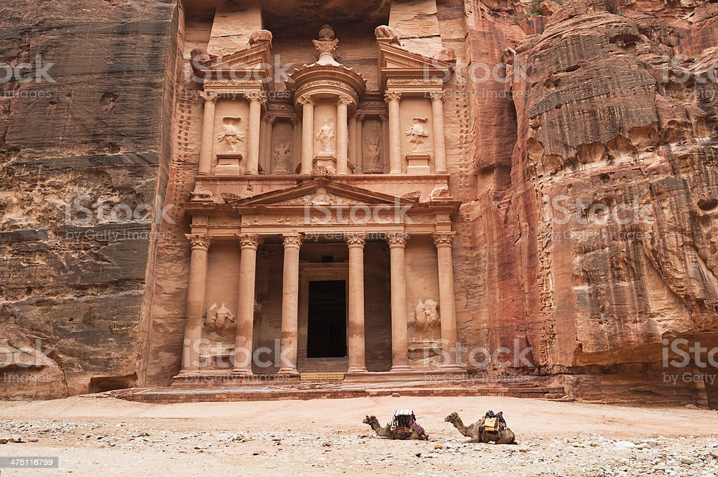 Al Khazneh or The Treasury at Petra, Jordan stock photo