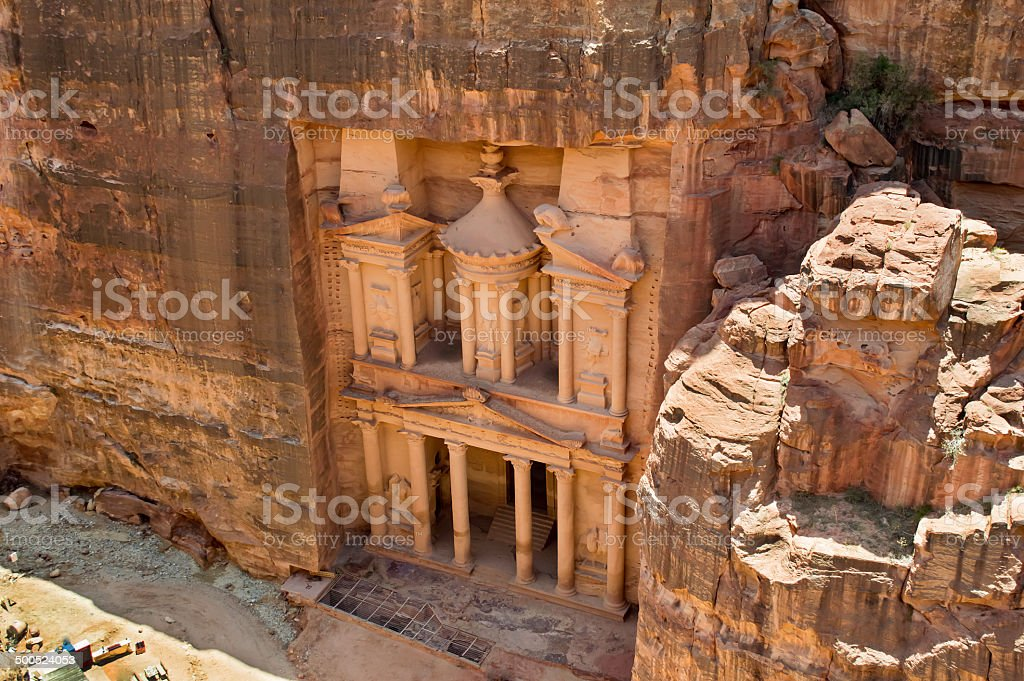 Al Khazneh or The Treasury at Petra stock photo