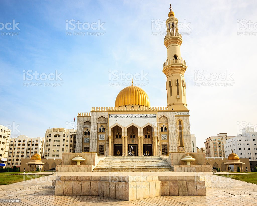 Al Khuwair Mosque in Muscat Sultanate Oman royalty-free stock photo