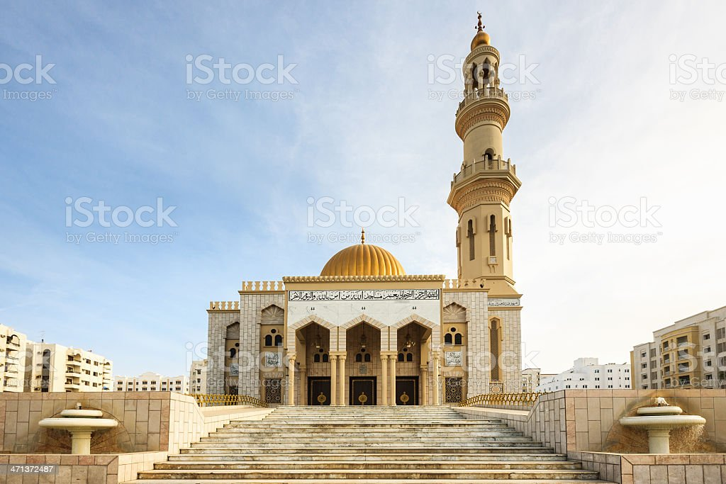 Al Khuwair Mosque Landmark of Sultanate Oman Muscat stock photo