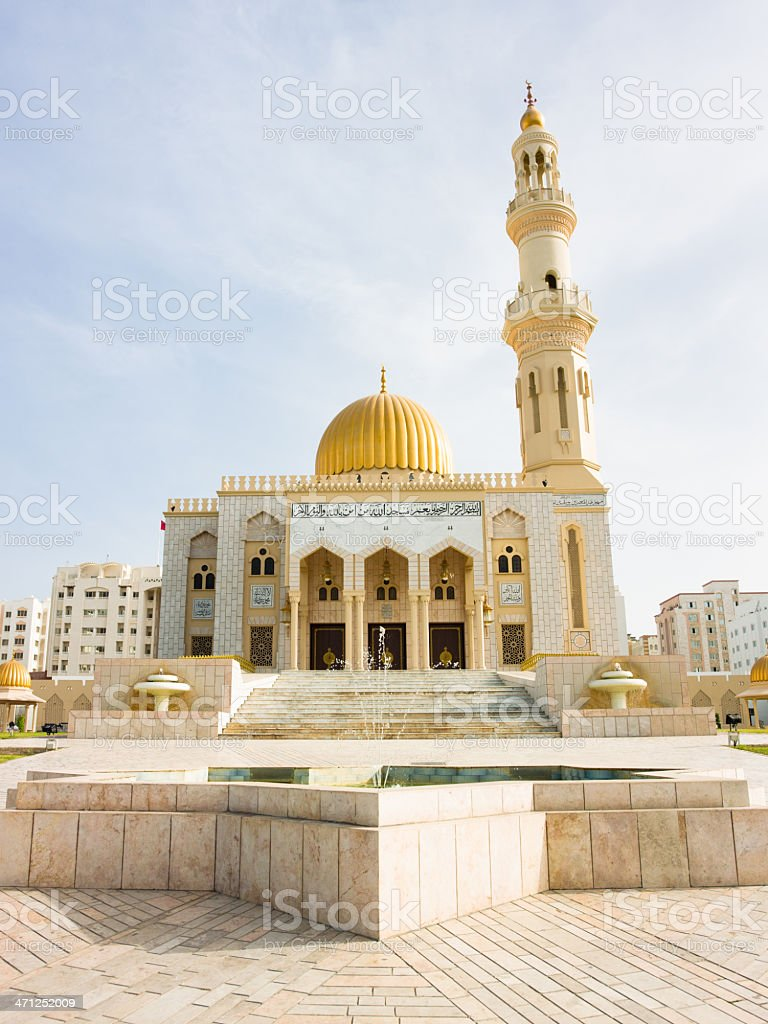 Al Khuwair Mosque Muscat Sultanate of Oman royalty-free stock photo