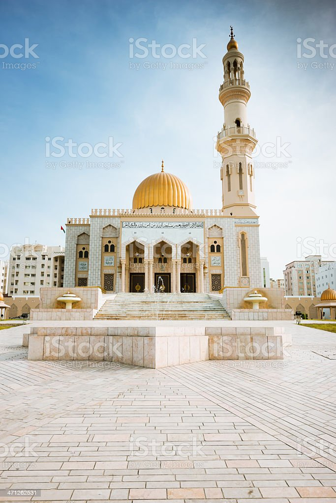 Al Khuwair Mosque Sultanate of Oman Muscat royalty-free stock photo