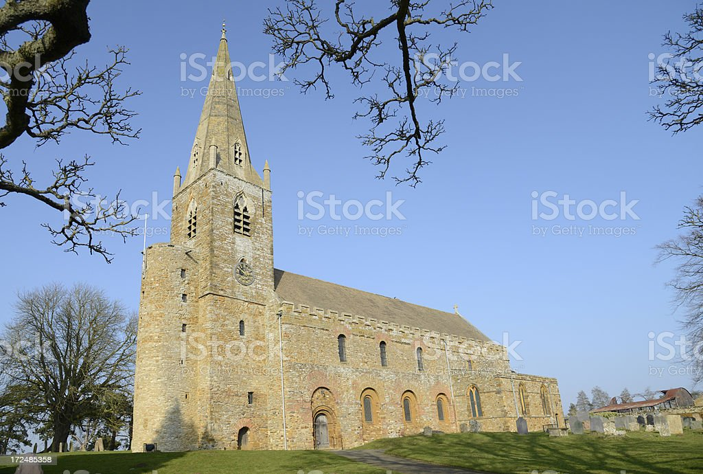 Al lsaints Anglo saxon church. Brixworth England. royalty-free stock photo