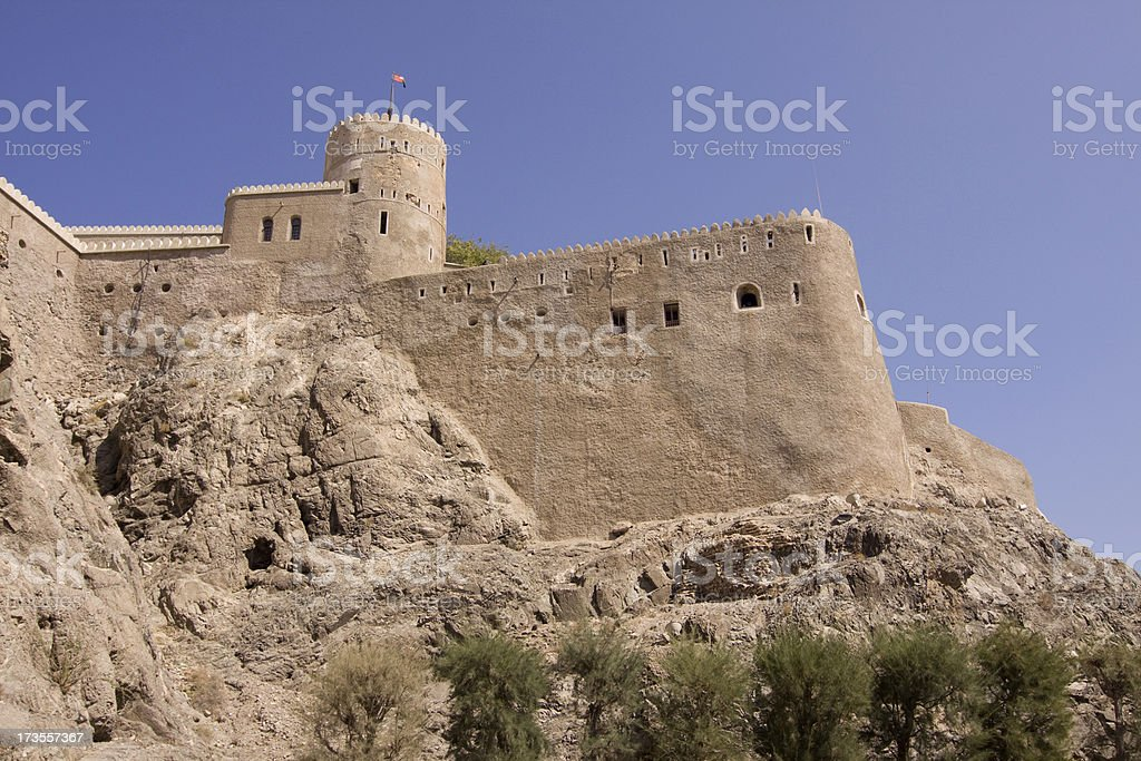 Al Mirani Fort, old muscat royalty-free stock photo