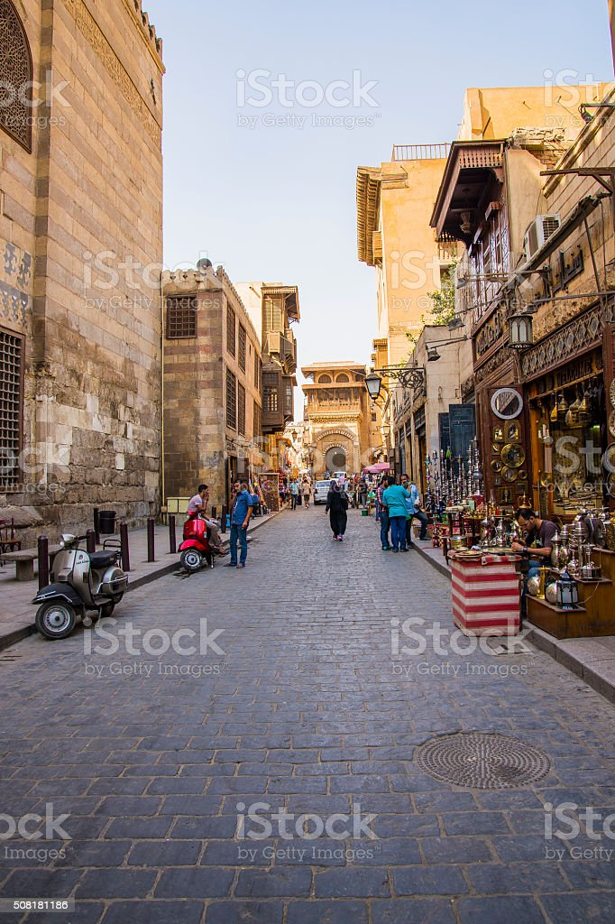 Al Muizz Street stock photo