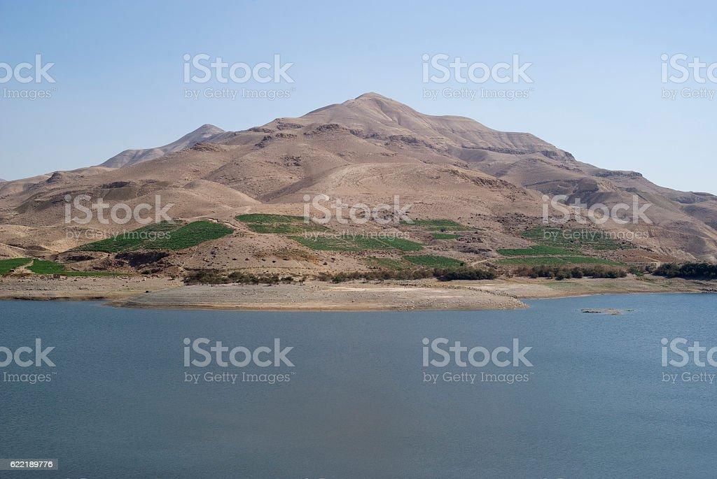 Al Mujib dam, Wadi Mujib, South Jordan stock photo