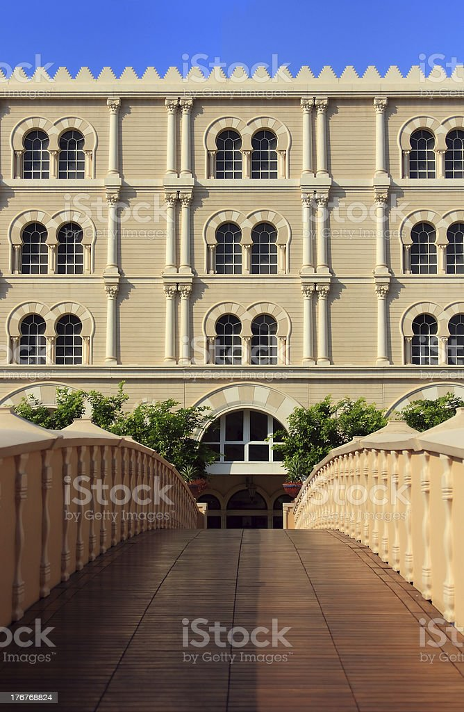 Al Qasba building royalty-free stock photo